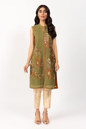 Khadi Net Embroidered Festive Shirt GLAMOUR-20-08 1PC