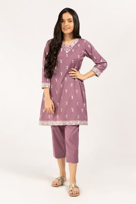 Embroidered Kathan Silk Shirt With Trouser GLAMOUR-21-29 KIDS 2PC