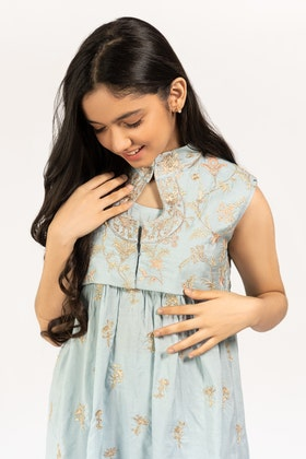Embroidered Kathan Silk Shirt With Trouser GLAMOUR-21-30 KIDS 2PC