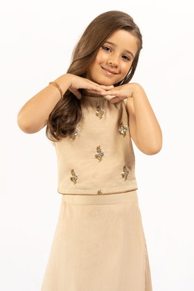 Embroidered Kathan Silk Shirt With Trouser GLAMOUR-21-32 KIDS 2PC