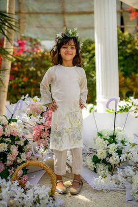 Khadi Net 2 PC Outfit GLAMOUR-19-23 KIDS