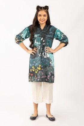 Digital Printed Cotton Shirt GLS-21-175 DP KIDS