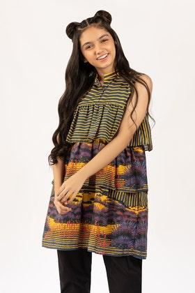 Digital Printed Cotton Shirt GLS-21-180 DP KIDS