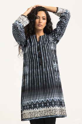 Light Cotton Digital Printed and Embroidered Shirt GLS-21-211 DP