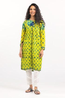 Light Cotton Digital Printed & Embroidered Shirt GLS-21-215 DP