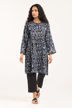 Digital Printed & Embroidered Cotton Shirt - GLS-21-216 DP