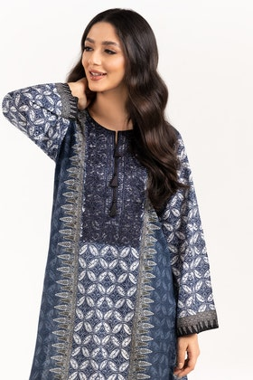 Digital Printed & Embroidered Cotton Shirt GLS-21-293-DP