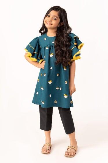 Embroidered Khaddar Shirt GLW-20-72 KIDS