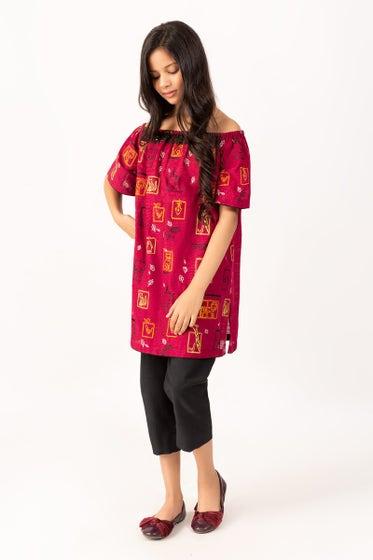 Embroidered Khaddar Shirt GLW-20-73 KIDS