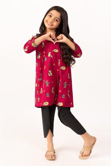 Embroidered Khaddar Shirt GLW-20-74 KIDS