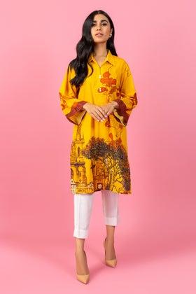 Digital Printed Cambric Shirt GLW-20-75 DP