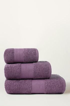 Grape Combed Towel Plain