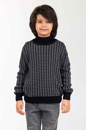 Green-Black Fashion Sweater FS-KIDS-SWT-FD-45-01