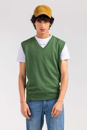 Green Basic Sweater SL-SWT-D21-01