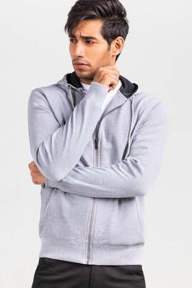 Grey Fashion  Hoodie JKT-HZJ-D50-03