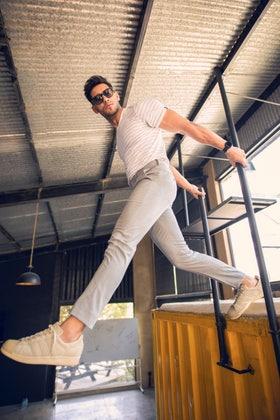 Grey Flexi Waist Pants BLDFIP_10_SF