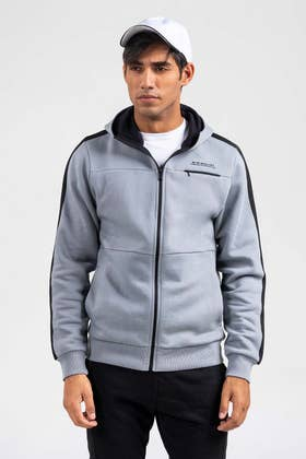 Grey Zipper Hoddie JKT-HZJ-D47-02
