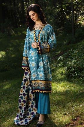 2PC Unstitched Digital Printed Khaddar Suit TK-12013 B