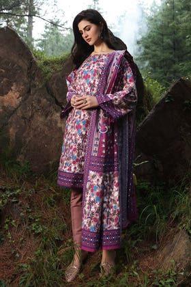 2PC Unstitched Digital Printed Khaddar Suit TK-12012 B