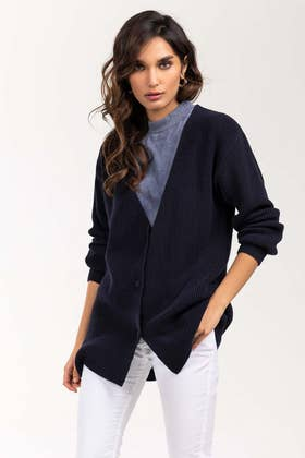Cotton Button Down Cardigan SWT-FW21-004