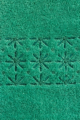 Ice Green Combed Embroidered