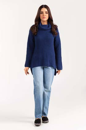 Cotton High Neck Pull Over Sweater  SWT-FW21-011 A
