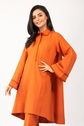 Dyed Cotton Shirt With Trouser - IPS-21-33 2PC