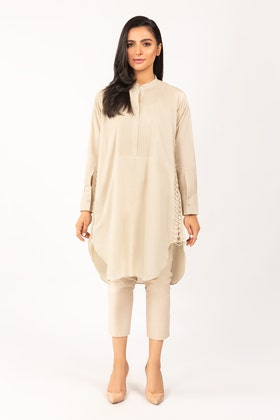 Dyed Cotton Shirt With Trouser - IPS-21-34 2PC