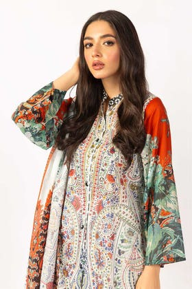 Printed Cotton Shirt With Lawn Dupatta IPS-21-46 2PC