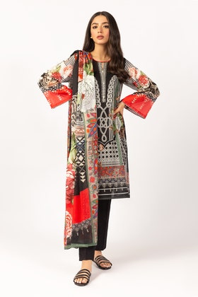 Printed Cotton Shirt With Lawn Dupatta IPS-21-47 2PC