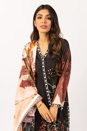 Printed Cotton Shirt With Lawn Dupatta IPS-21-49 2PC