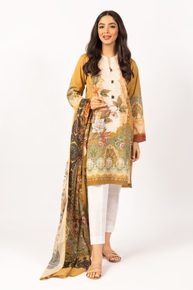 Printed Lawn Shirt With Lawn Dupatta IPS-21-50 2PC