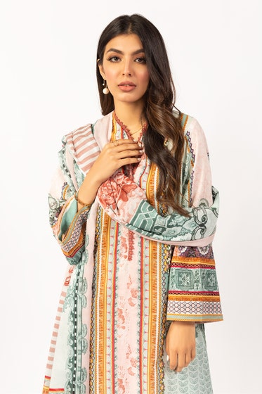 Printed Lawn Shirt With Lawn Dupatta IPS-21-51 2PC