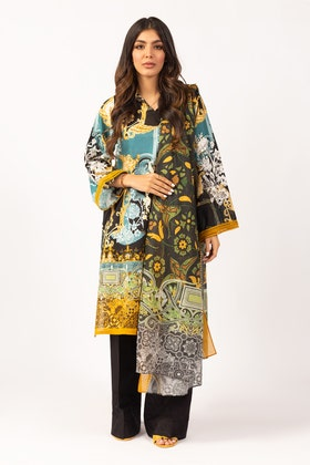Printed Cotton Shirt With Lawn Dupatta IPS-21-53 2PC