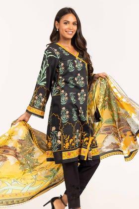Digital Printed Light Cotton Shirt With Printed Lawn Dupatta IPS-21-80 2PC