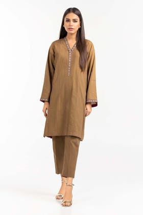 Embroidered Cambric Shirt With Trousers IPS-21-82 2PC