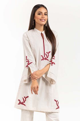 Embroidered Cambric Shirt With Trousers IPS-21-84 2PC