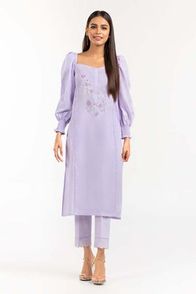 Embroidered Cambric Shirt With Trousers IPS-21-86 2PC