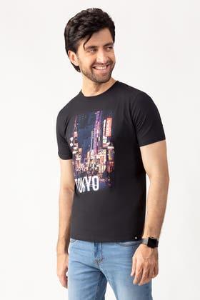 Black Fashion T-Shirt JGP-URB-D211