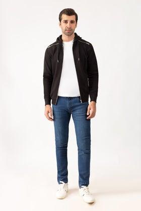 Black Hoodie Zipper Jacket JKT-HZJ-D41-01