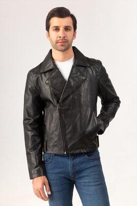 Black Leather Jacket JKT-LETH-D35-01