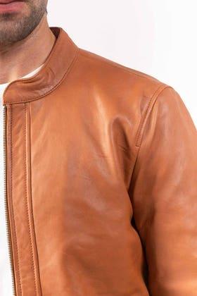 Tan Leather Jacket JKT-LETH-D39-01