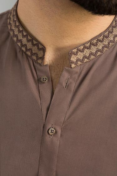 Brown Semi Fashion Kurta KE-1367