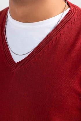 Maroon Basic Sweater FS-SWT-D36-04