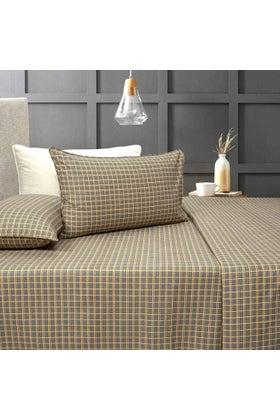 Miller Plaid T-150 Bed Sheet Set