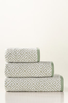 Mint Green Jacquard Yarn Dyed Towel