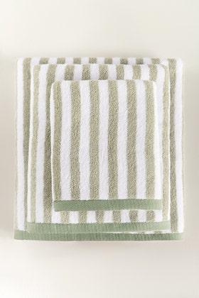 Mint Green Stripe Yarn Dyed Towel