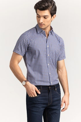 Multi Color Checkered Formal Shirt CVC-YD-496 HS
