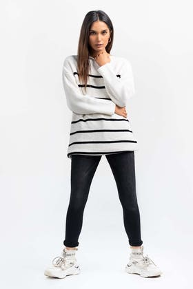 Cotton Funnel Neck Pull Over Sweater  SWT-FW21-034