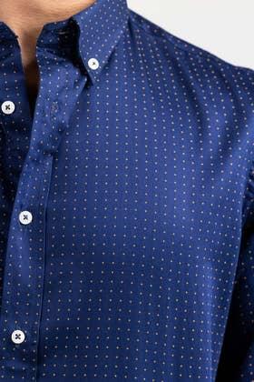 Navy Blue Smart Casual Shirt CM-YD-2896 SC